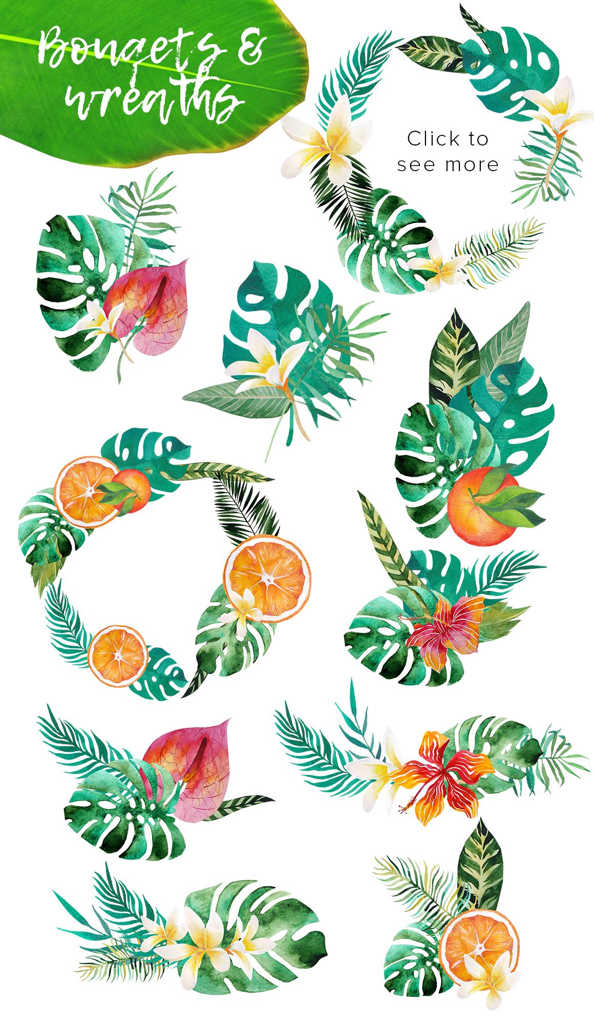 Tropic boom! watercolor designer kit example image 2