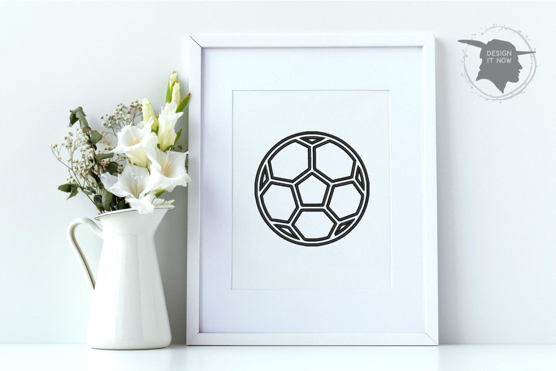 Soccerball Applique Design, Sport Embroidery, Ball Applique example image 8