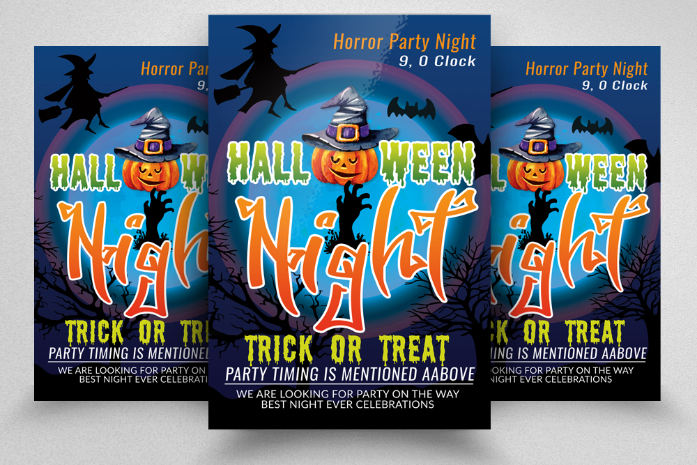 Halloween Horror Night Flyer / Poster example image 1