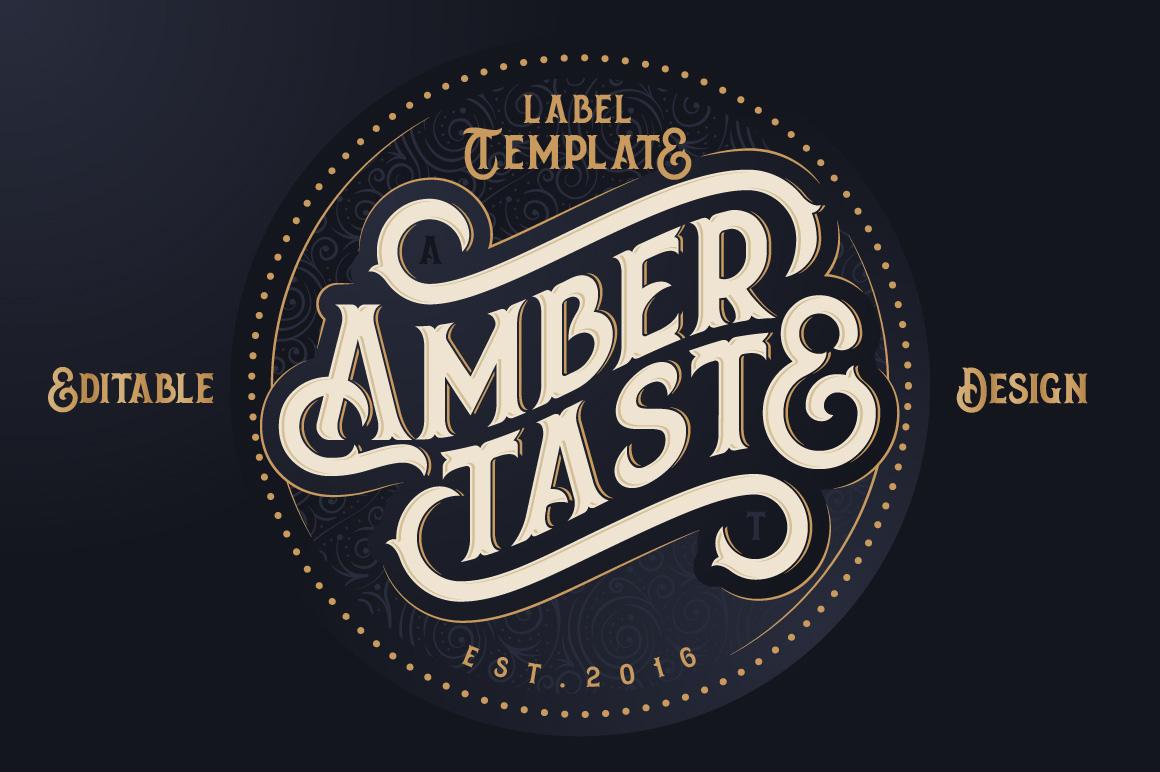 Amber Taste Font, Label, Mockup! example image 5