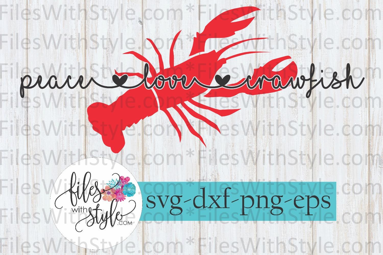 CRAWFISH BUNDLE Boil Cajun SVG Cutting Files example image 9