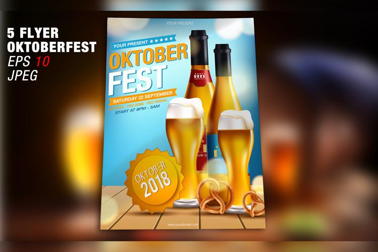 Oktoberfest Flyer Template - Vector example image 3