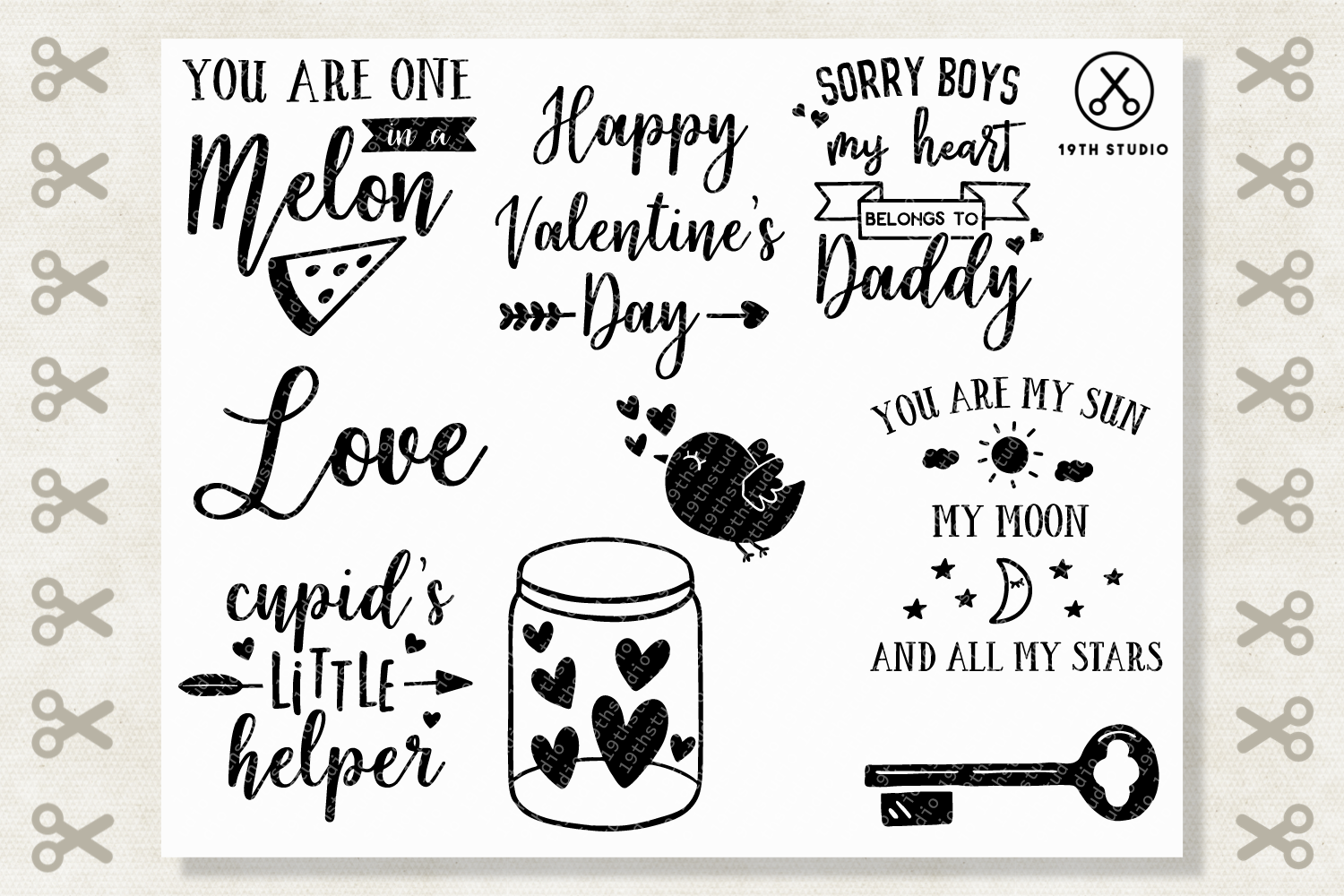 Valentine's Day SVG Bundle - M19B example image 4