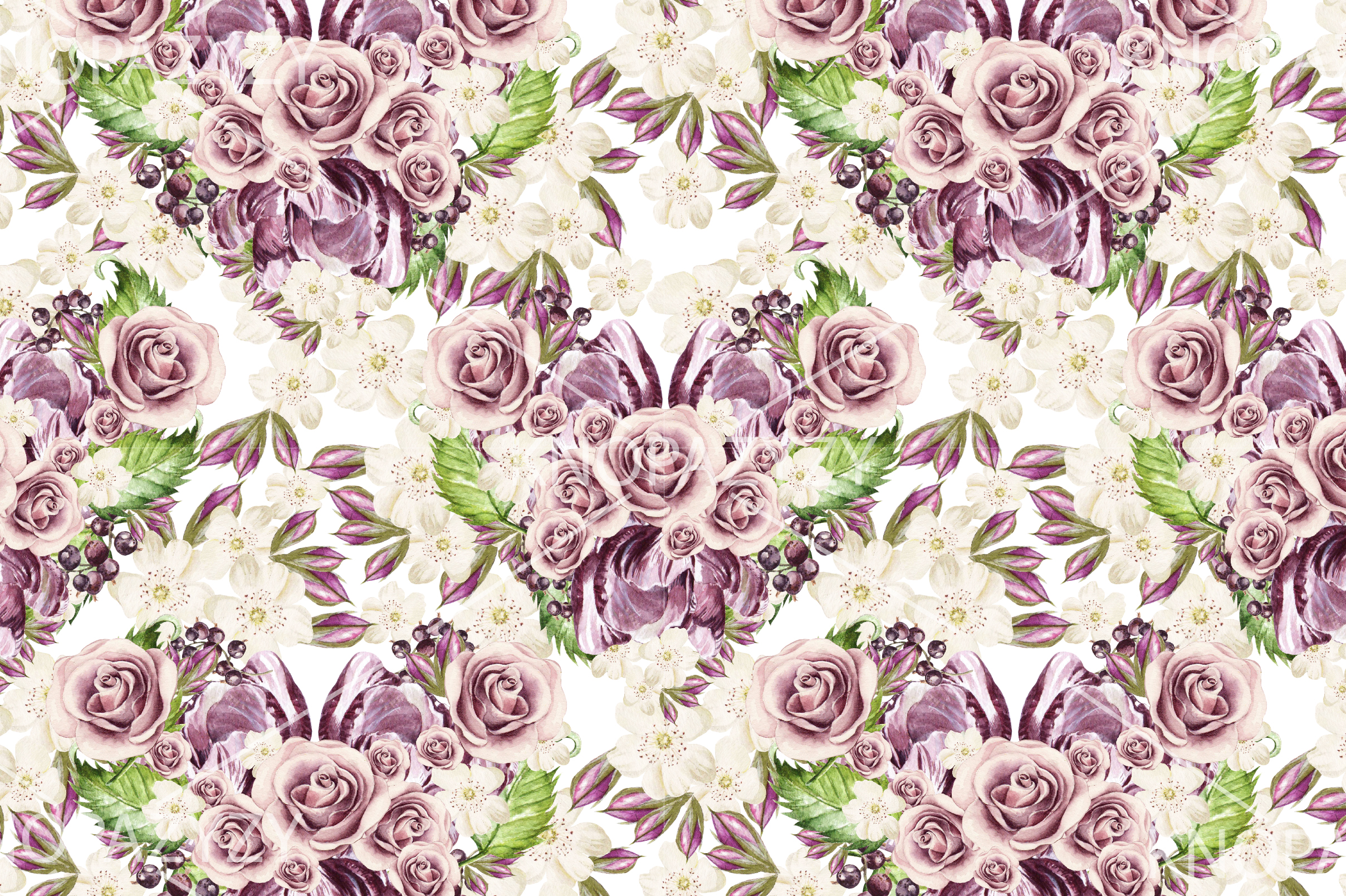 15 Hand Drawn Watercolor PATTERNS example image 15