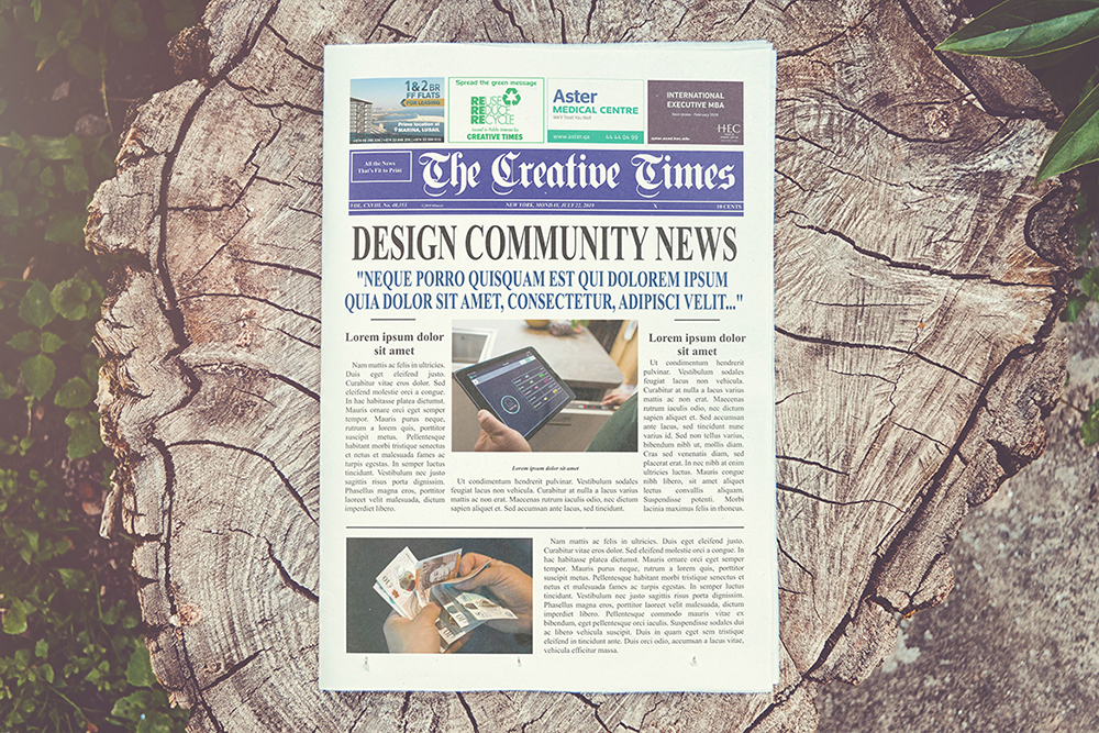 a4 Newspaper Mockups example image 4