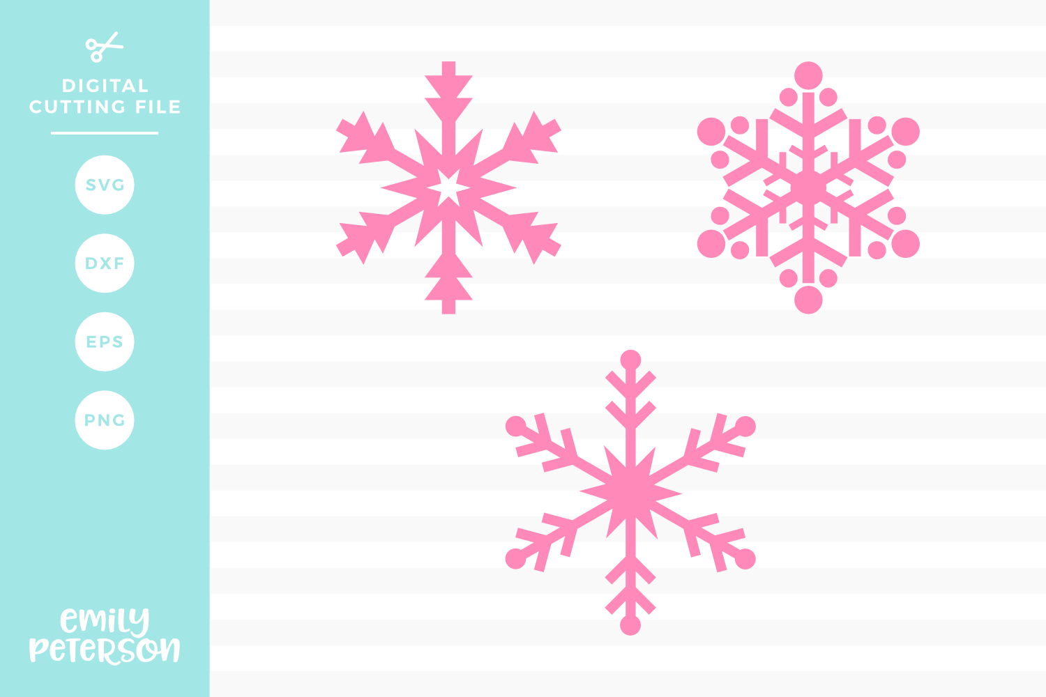 Snowflakes V4 SVG DXF EPS PNG example image 1