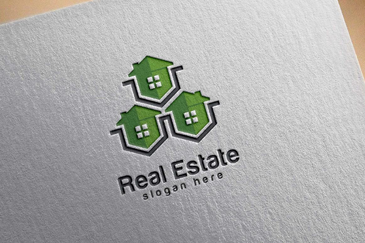Real Estate logo, Abstract home logo example image 3