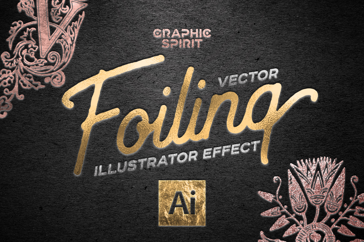 Vector Foiling Illustrator Effect example image 1