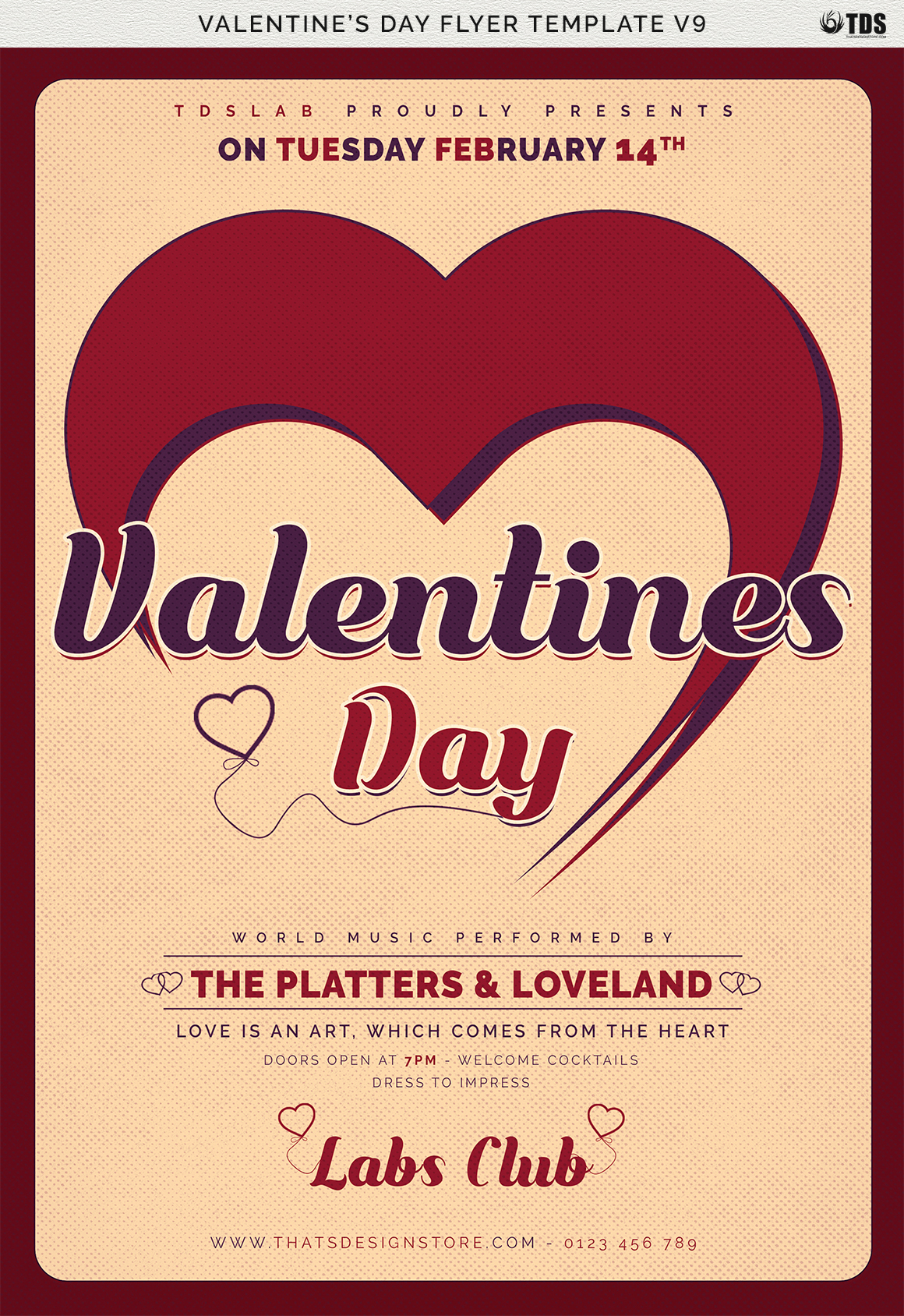 Valentines Day Flyer Template V9 example image 9