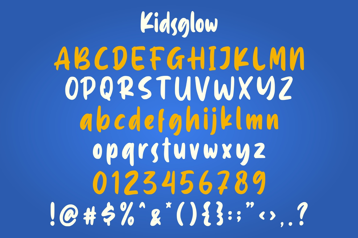 Kidsglow - Fun Fonts example image 6