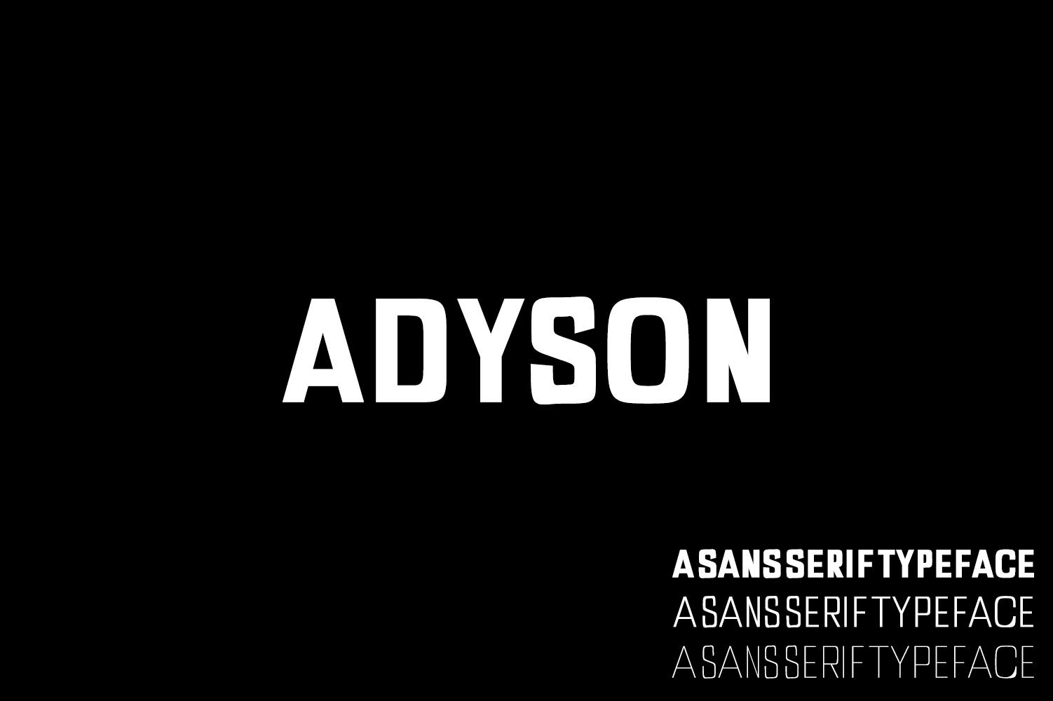 Adyson Sans Serif Typeface example image 1