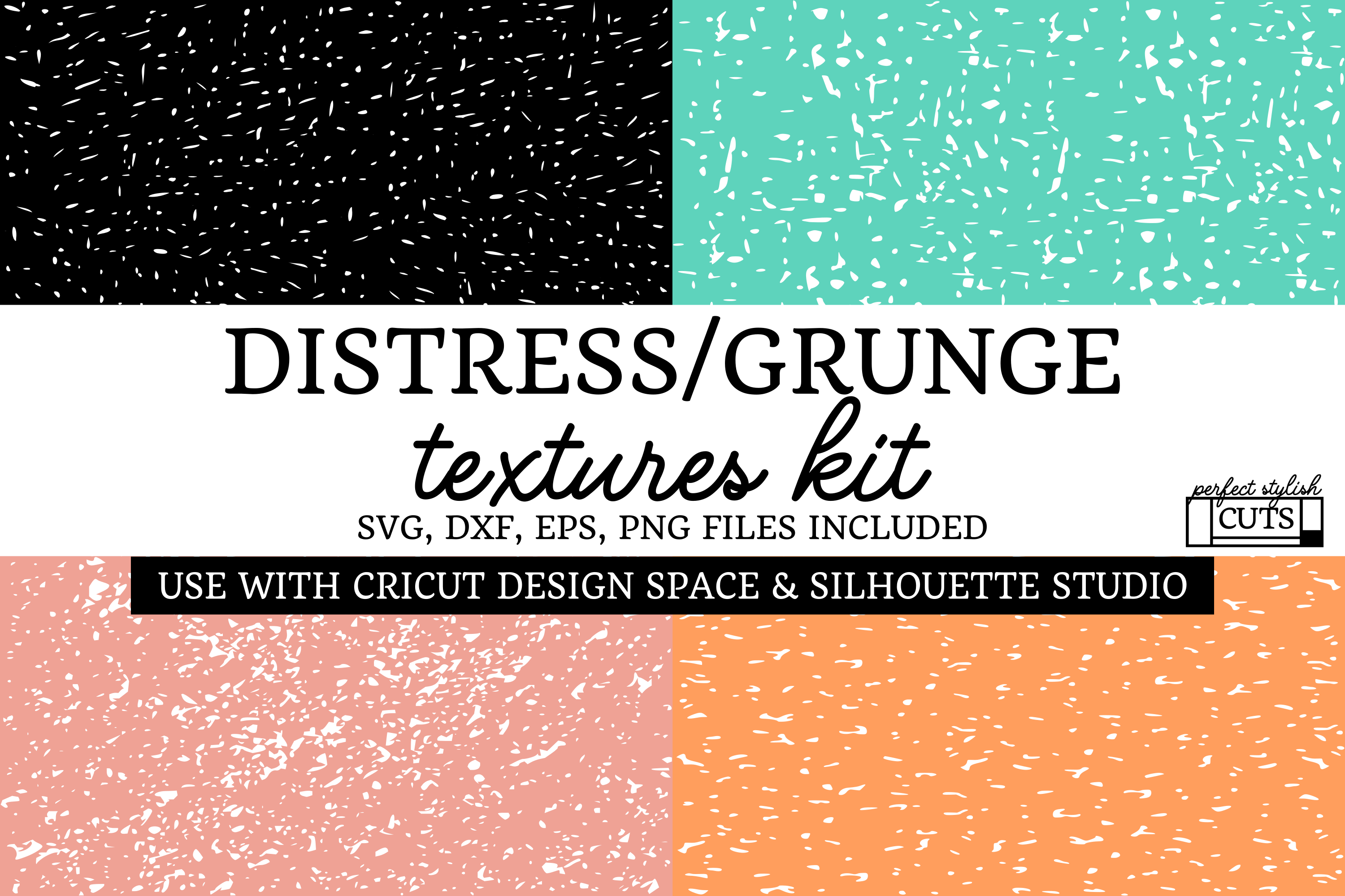 Grunge Textures Bundle, Distressed SVG Textures Kit example image 1
