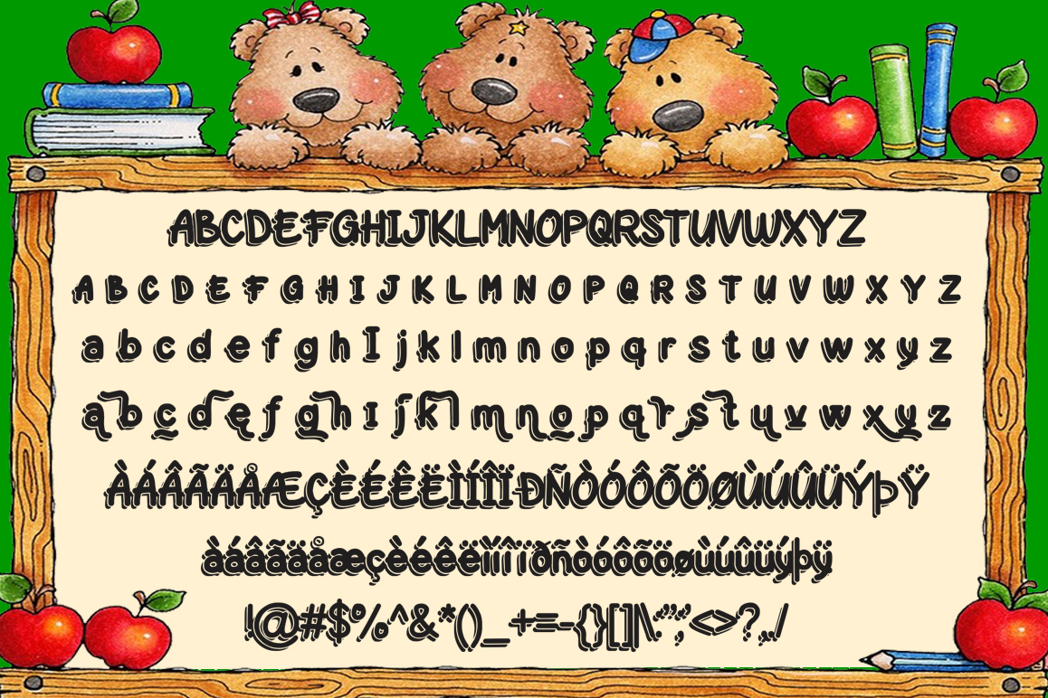 Play-on shadow font example image 2