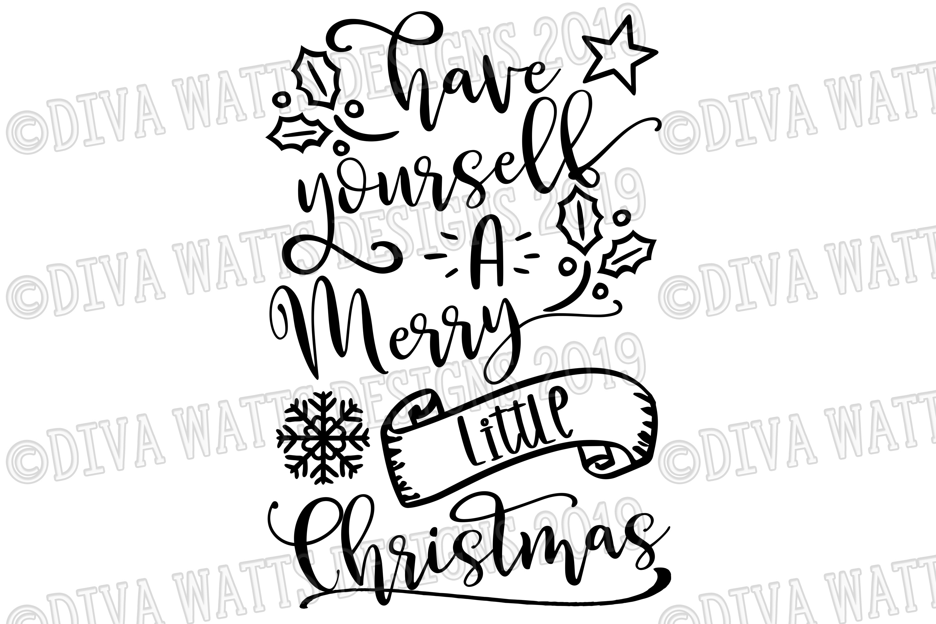 Have Yourself A Merry Little Christmas Cutting File example image 3