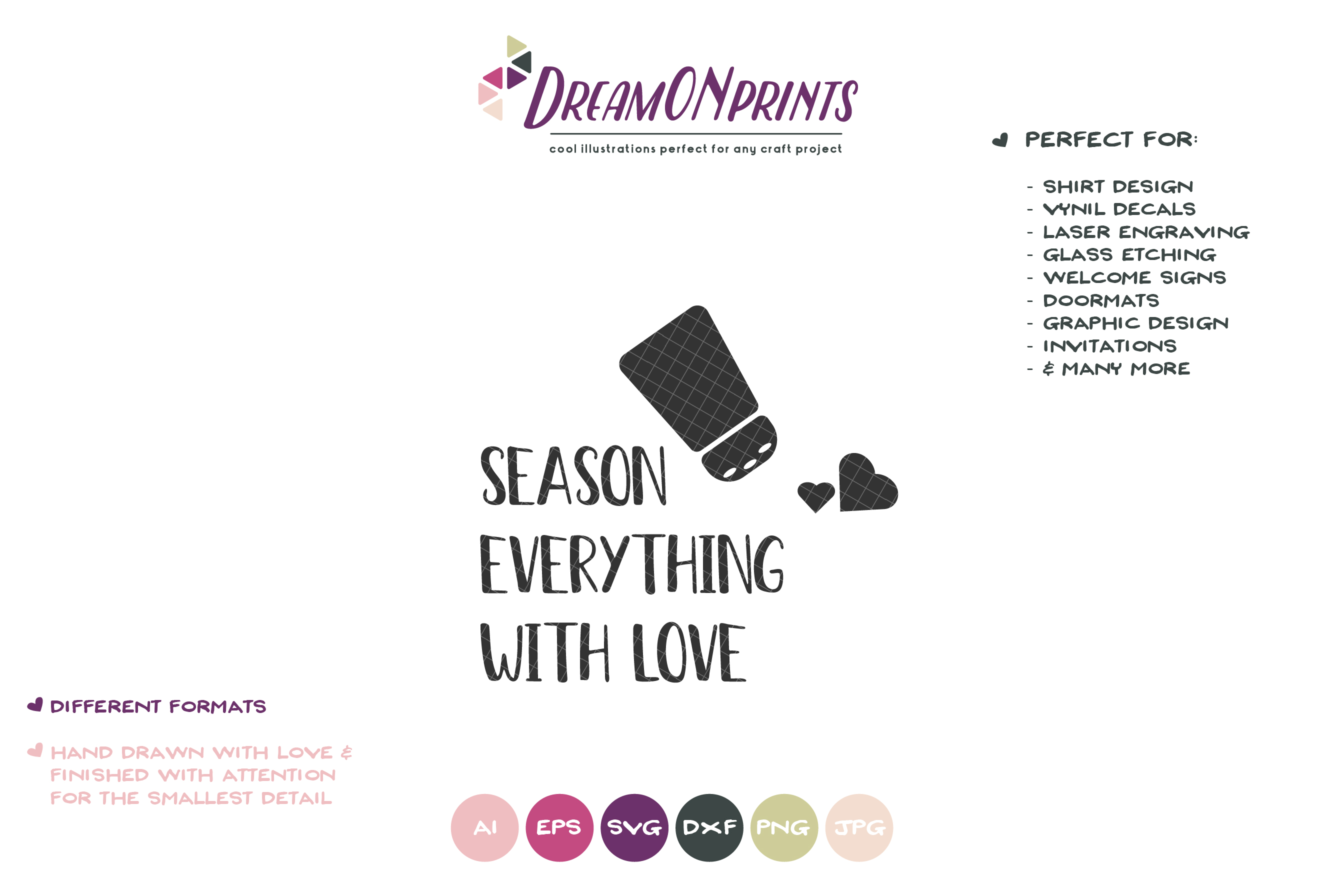 Kitchen SVG Season Everything with Love example image 2