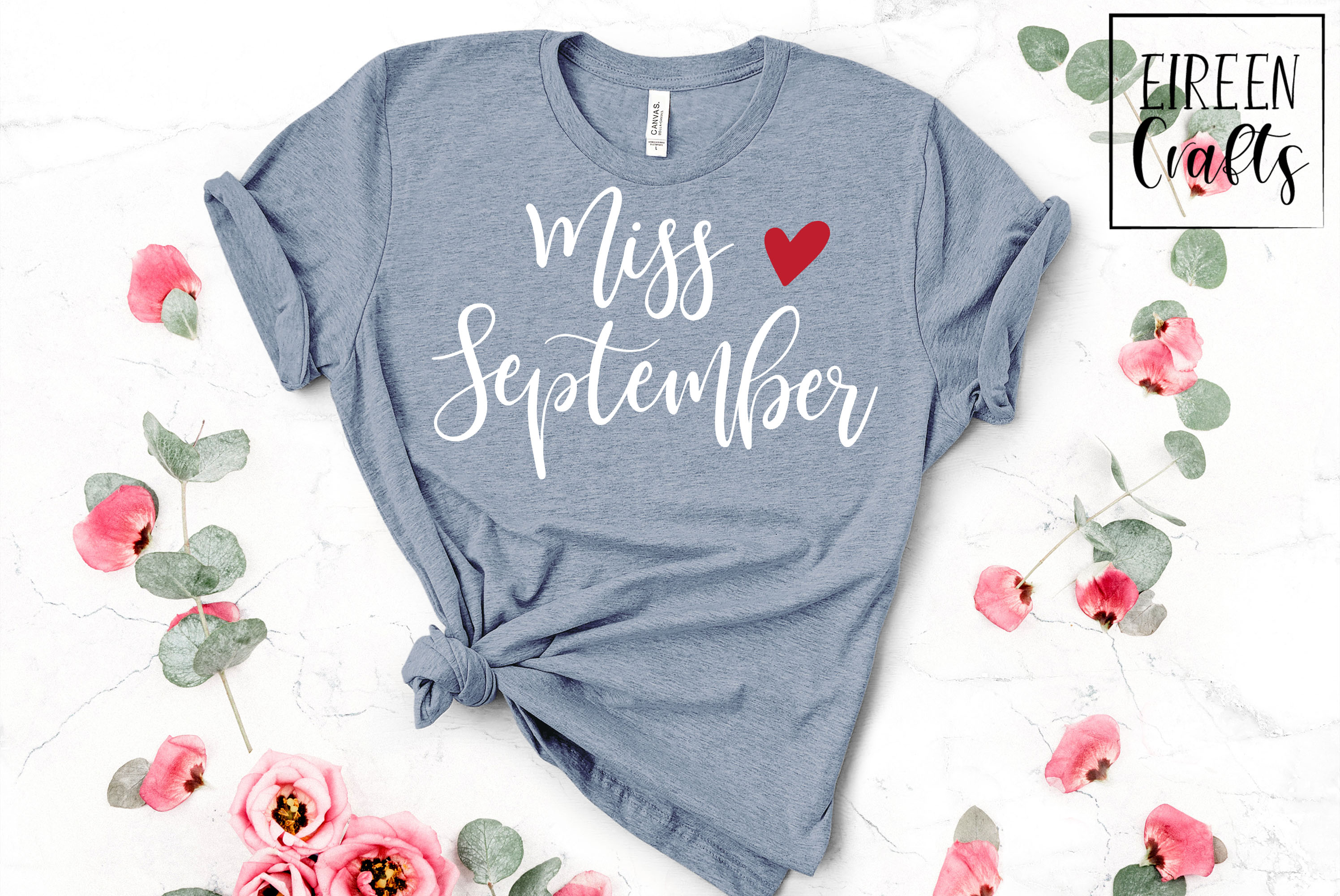 Miss September SVG - cut file for Cricut & Silhouette example image 2