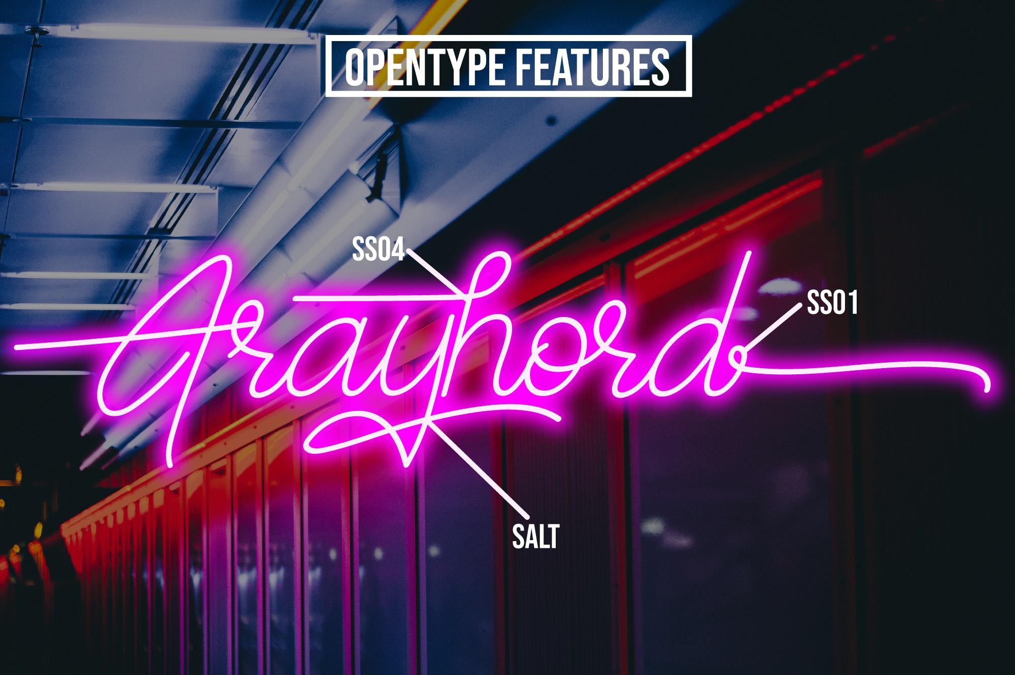 Frayhord Monoline Script example image 6