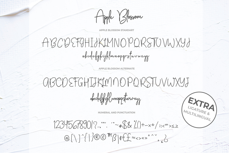 Apple Blossom Font example image 9