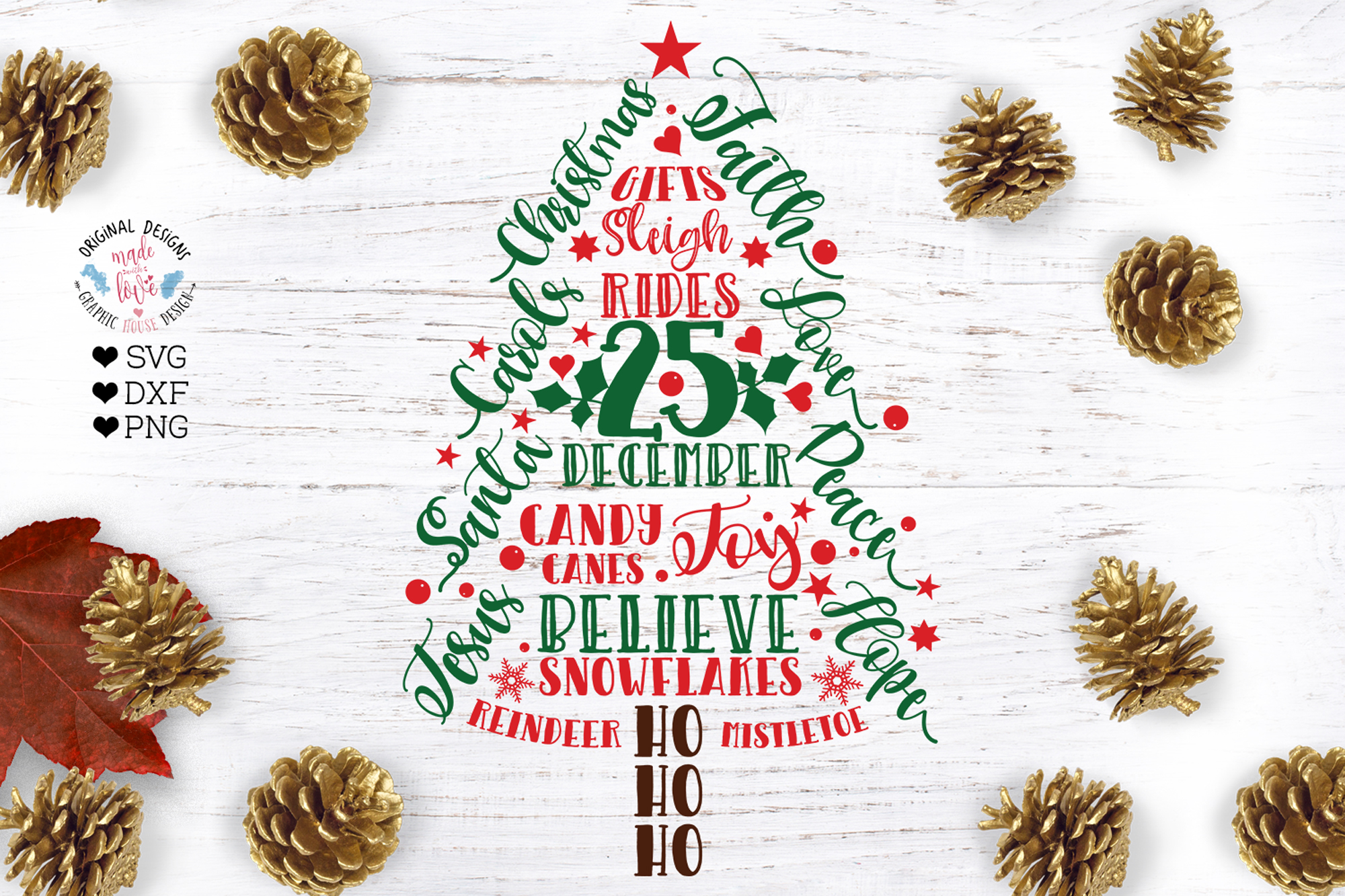 A Merry Christmas Cut Files Bundle example image 2