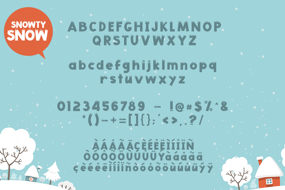 Snowty 3 Font example image 5