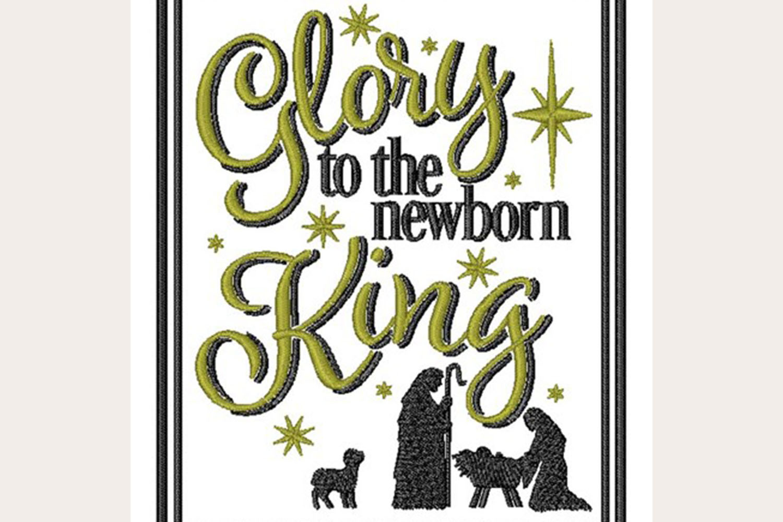 Newborn King - Machine Embroidery Design example image 1