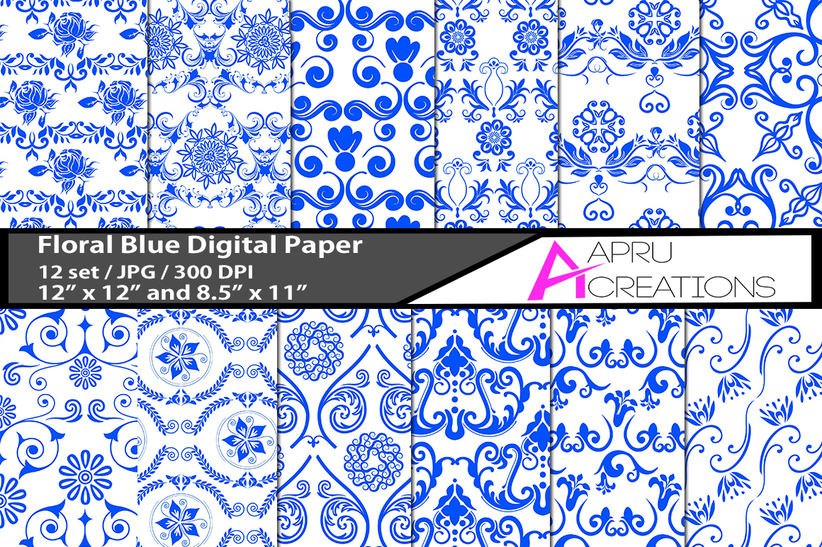 swirl flower pattern digital papers, embellishment crochet pattern, digital papers, high quality 300 dpi, 12 x 12 inch , and 8.5 x 11 inch example image 1
