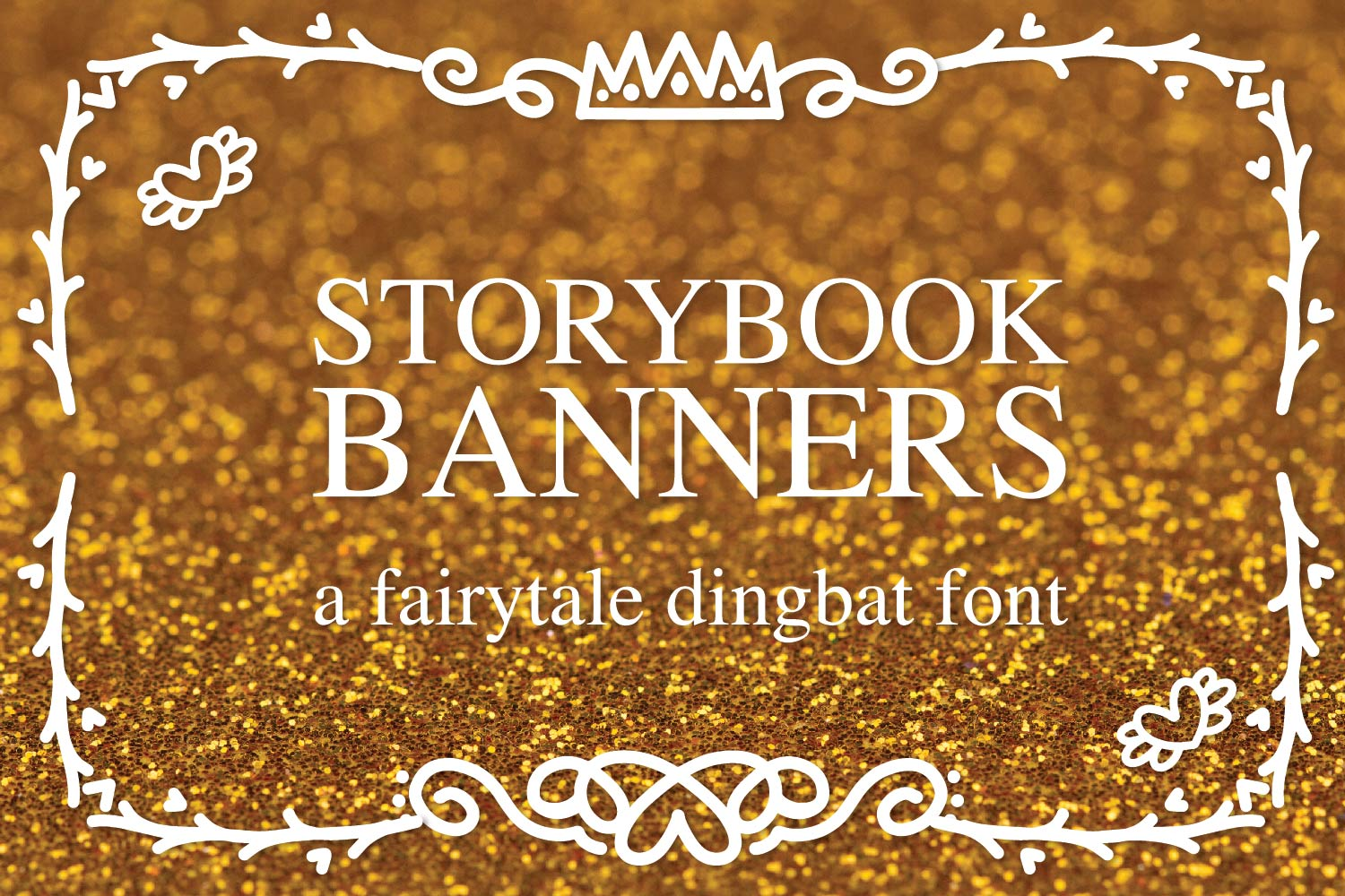 Storybook Banners - A Dingbat Font Full of Magical Borders example image 1