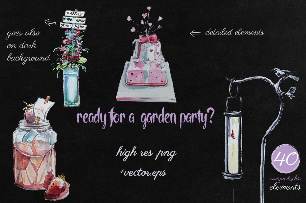 Garden Party - Watercolors example image 2