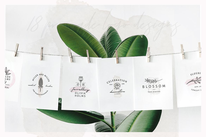 So Flowery Branding Kit + Watercolours example image 2
