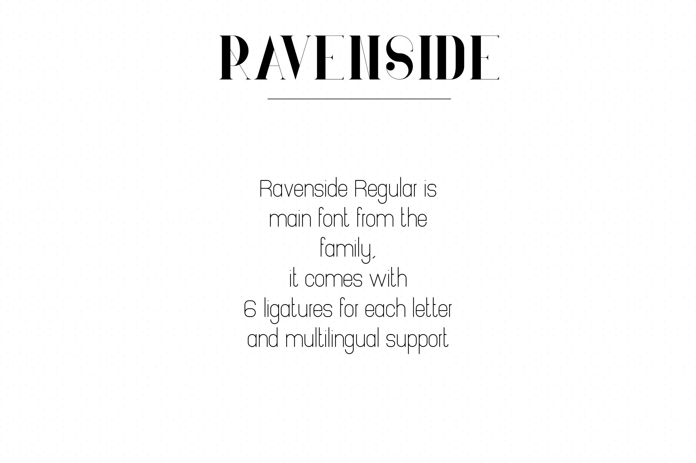 Ravenside-high end trio font example image 7