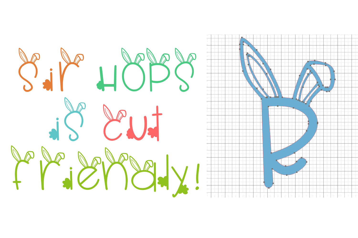 Sir Hops - A Bunny Font example image 3