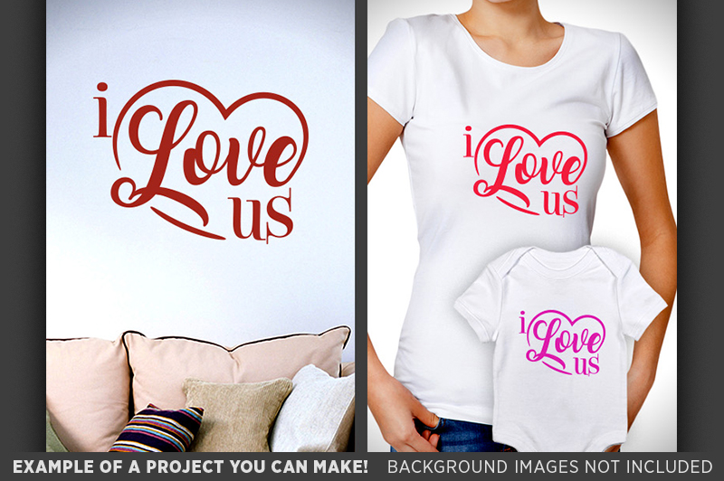 I Love Us SVG - Valentines Day SVG - 1511 example image 3