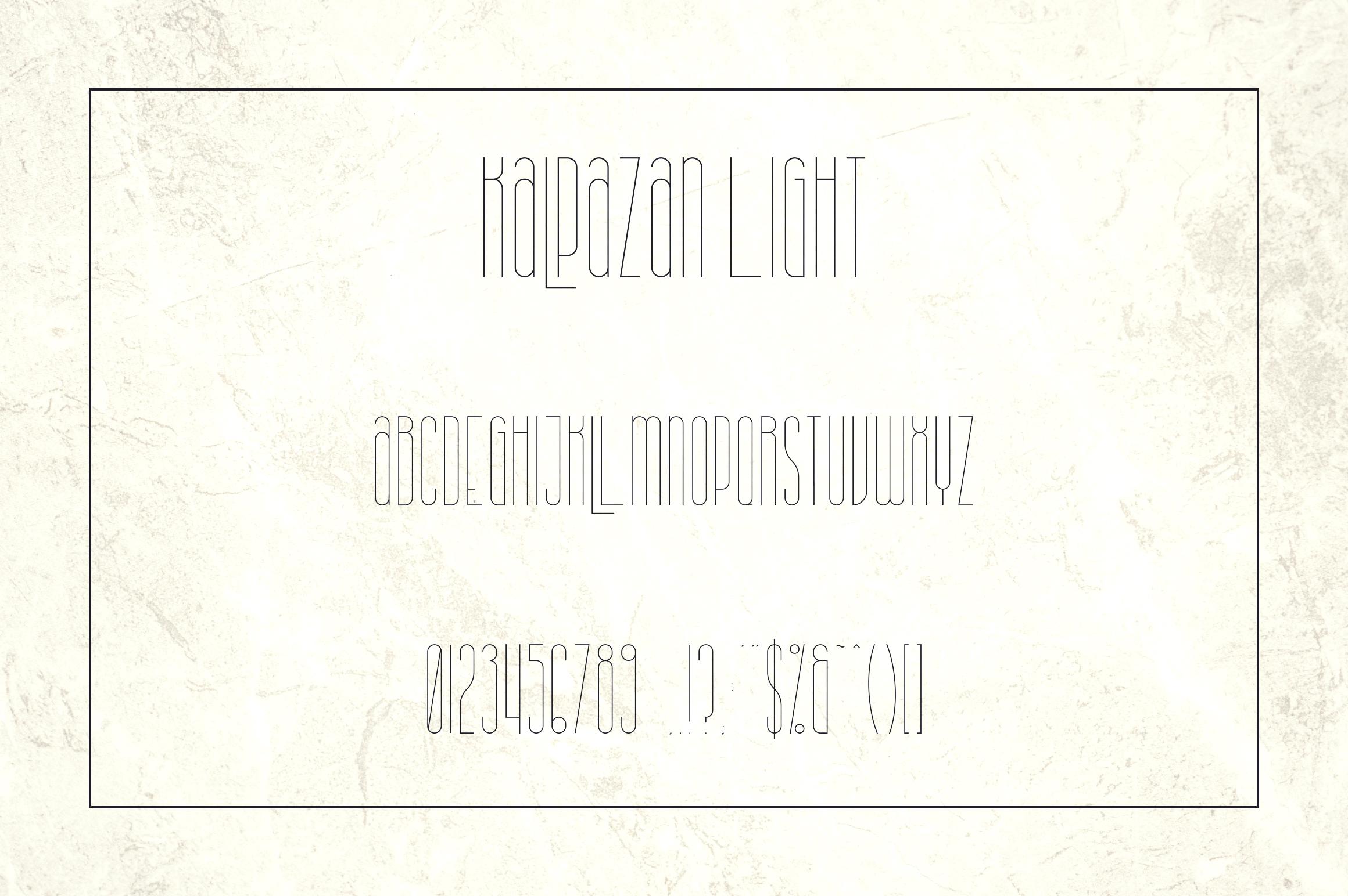 Kalpazan font family example image 8