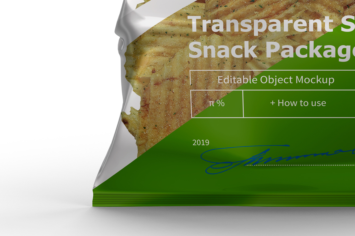 Transparent Snack Package Mockup example image 7