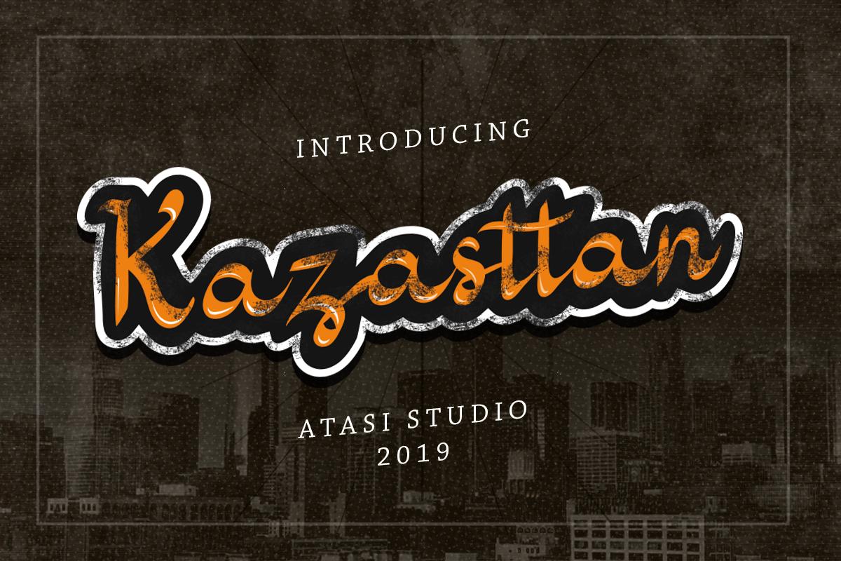 Kazasttan Font example image 1