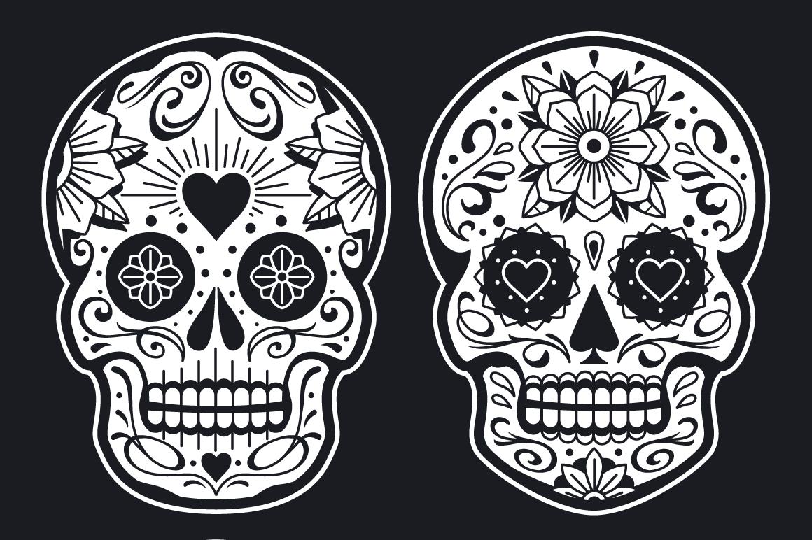 Vector Mexican Sugar Skulls example image 4