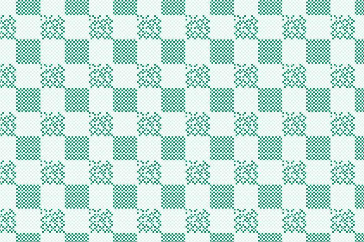 Green Textile Seamless Patterns. example image 8