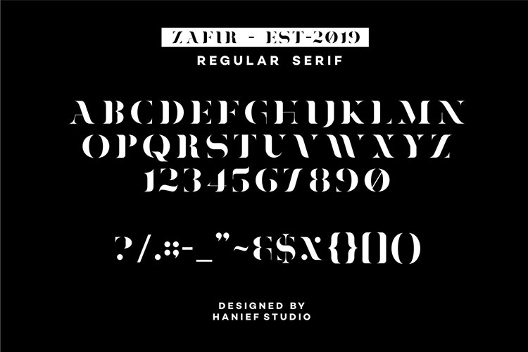 Zafir - Serif Font example image 5