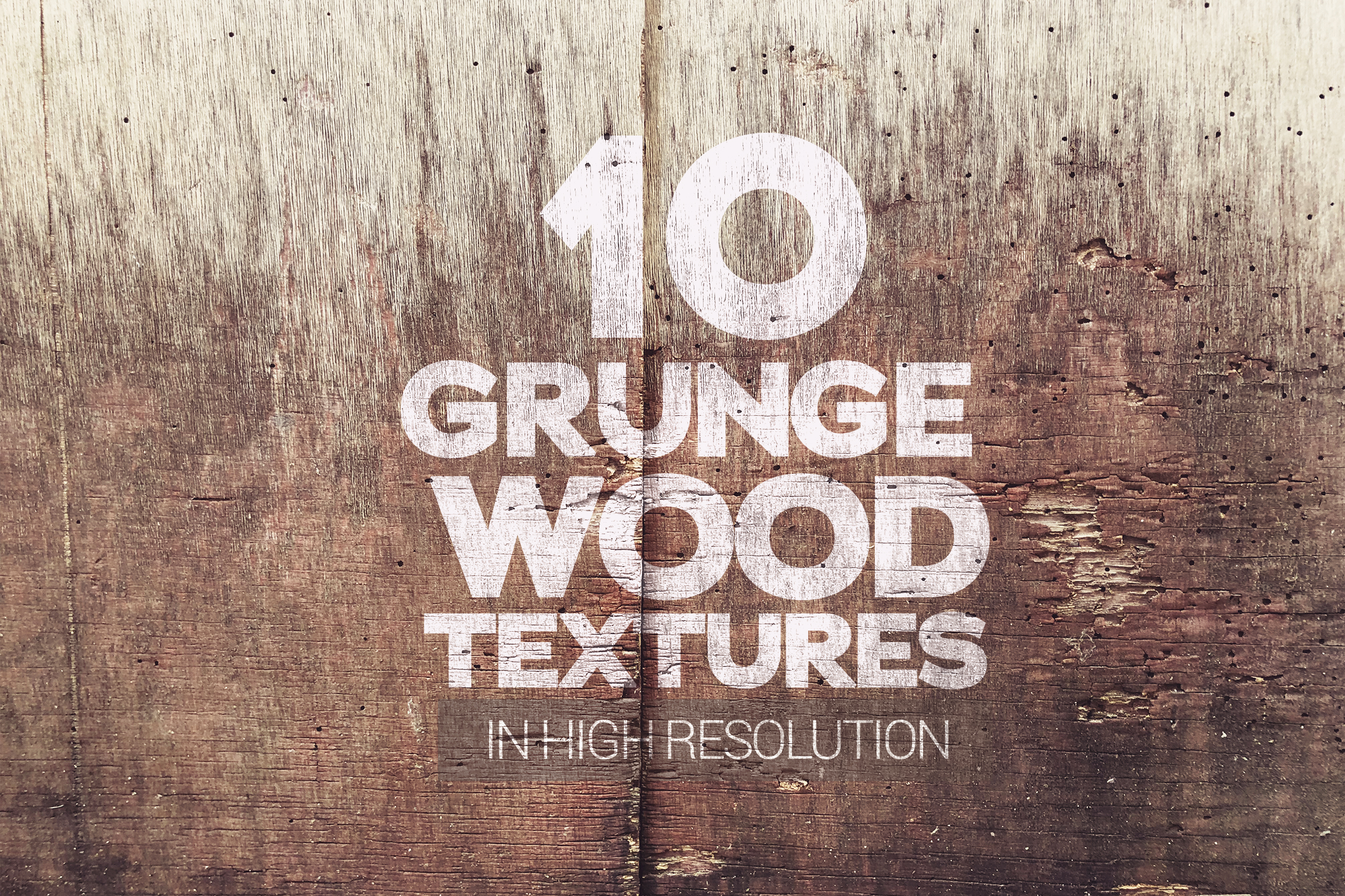 Grunge Wood Textures x10 example image 1