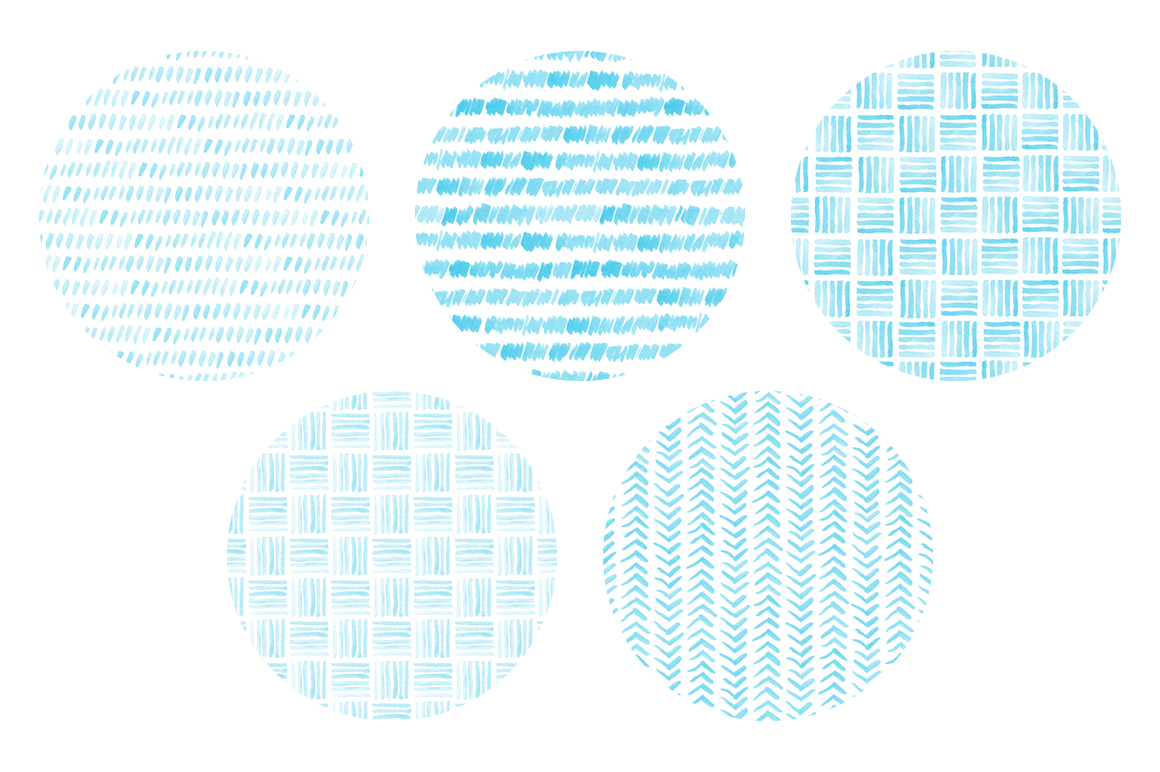 20 Seamless Watercolor Patterns Light Blue example image 4