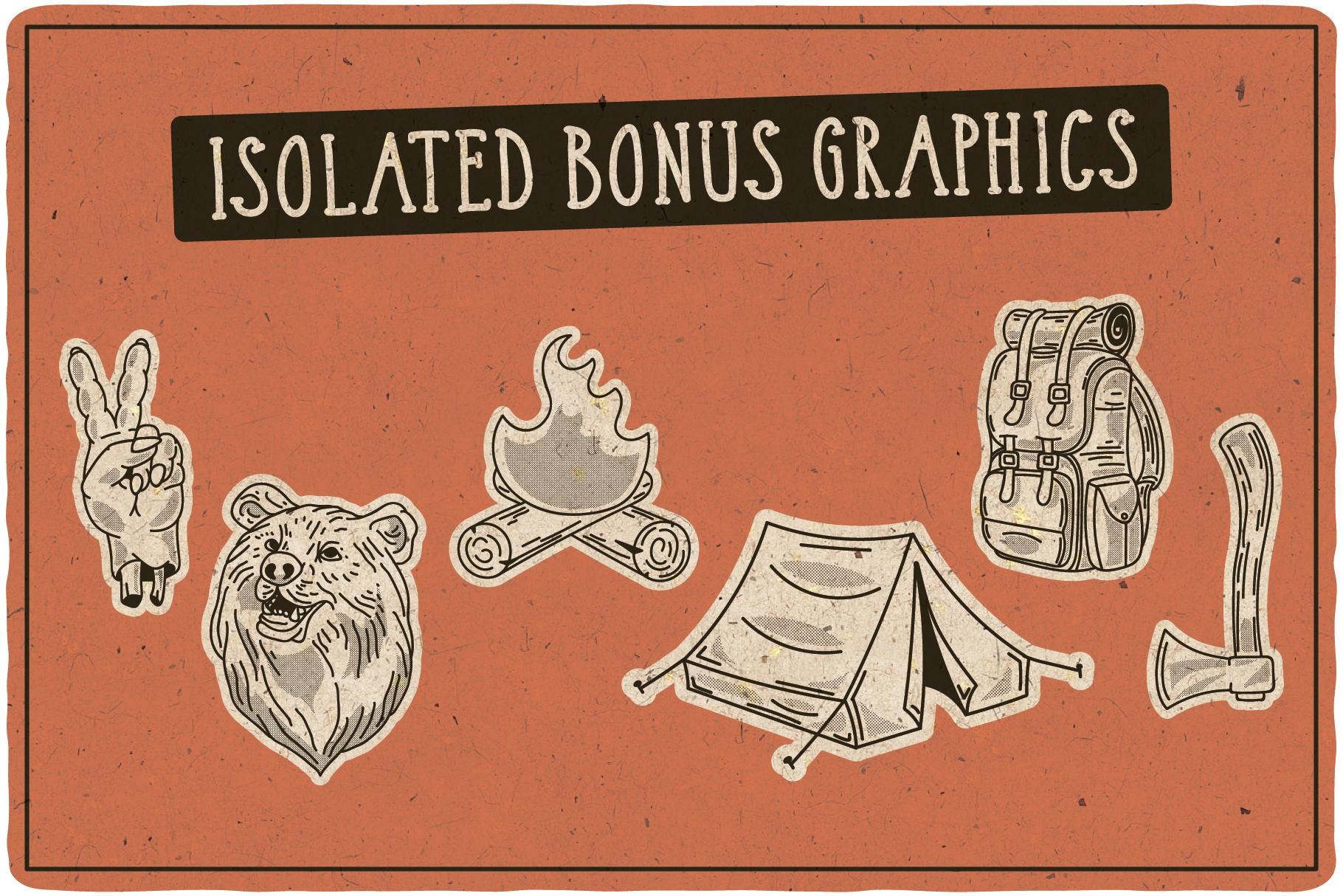 Adventure Typeface plus bonus graphics example image 8