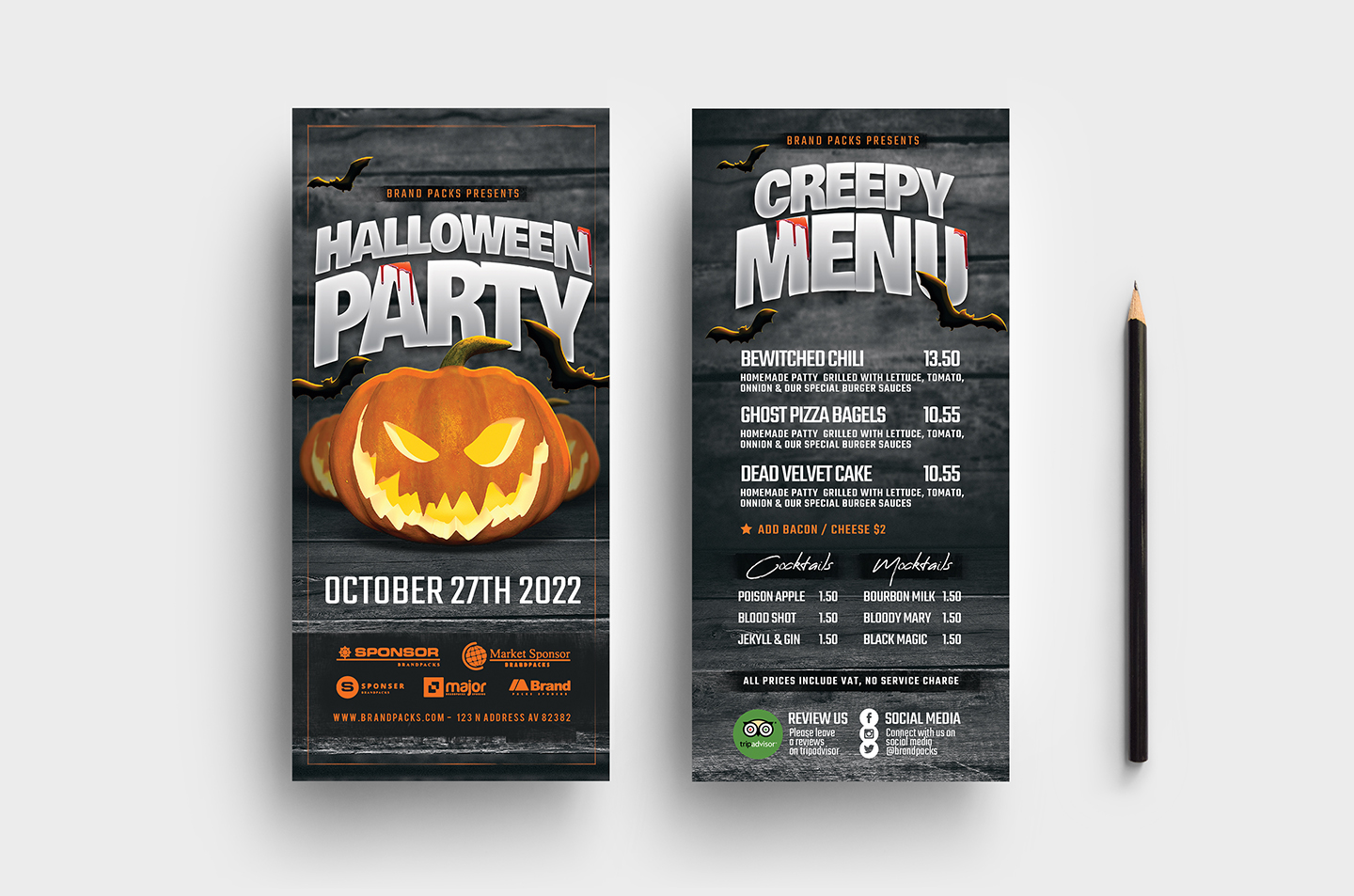 Halloween Party Flyer Template example image 7