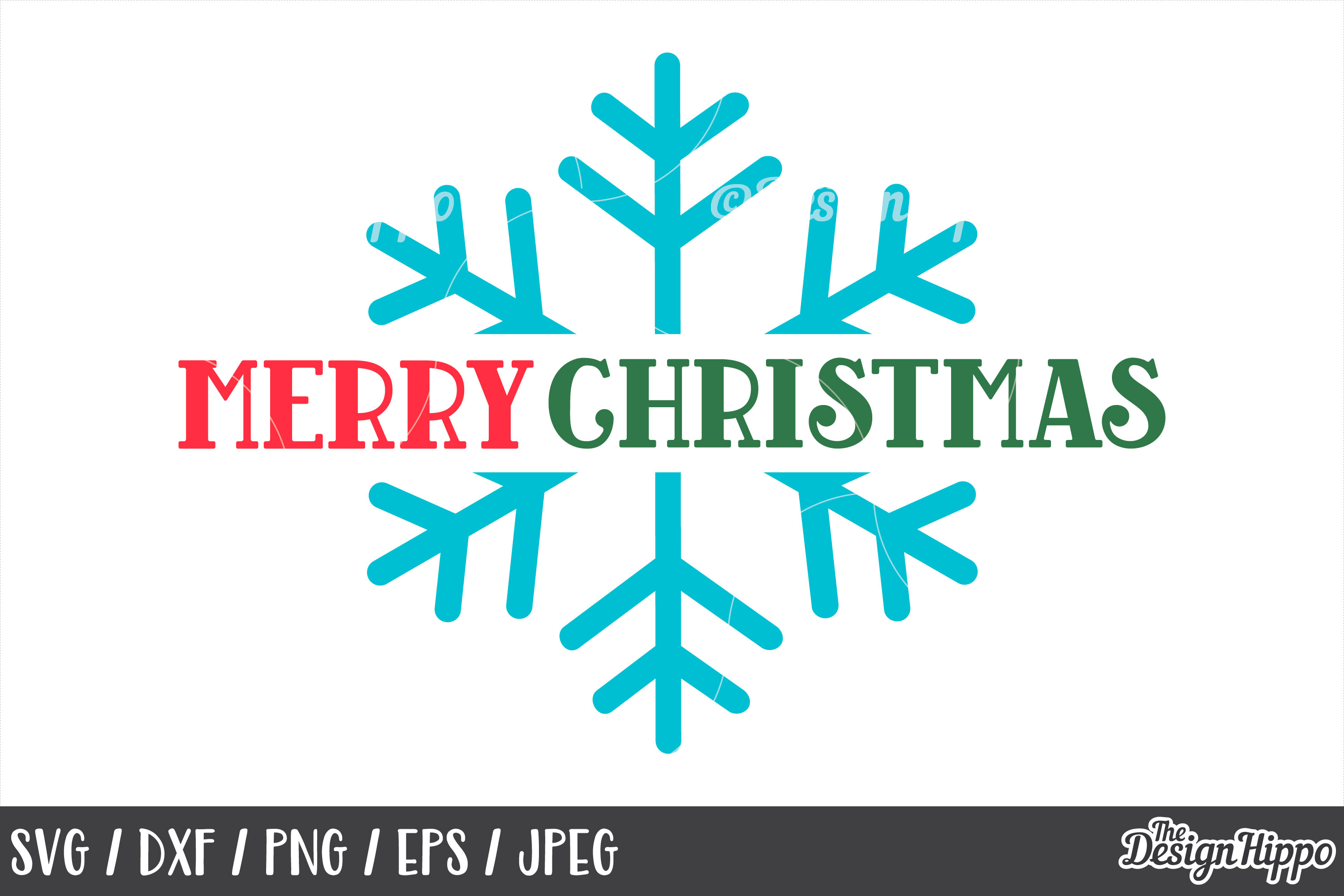 Snowflake, Merry Christmas SVG, DXF, PNG, Cricut, Cut Files example image 1