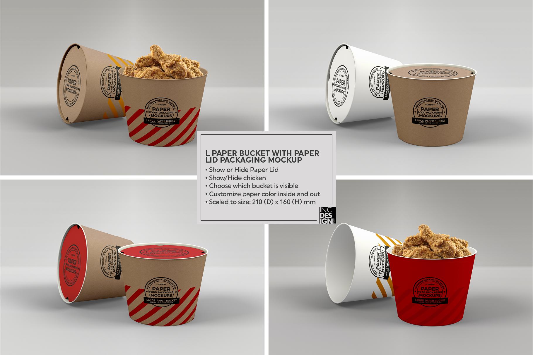 VOL.12 Food Box Packaging MockUps example image 25