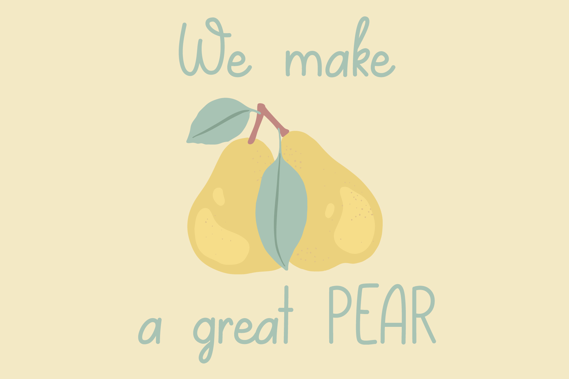 Lovely Pear | hand-written font example image 3