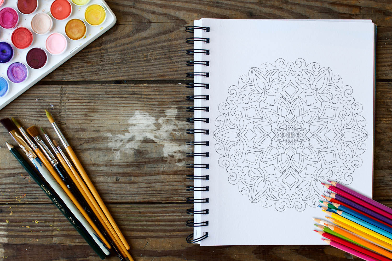 Mandala Designs Coloring Book - 30 Unique Mandalas example image 4