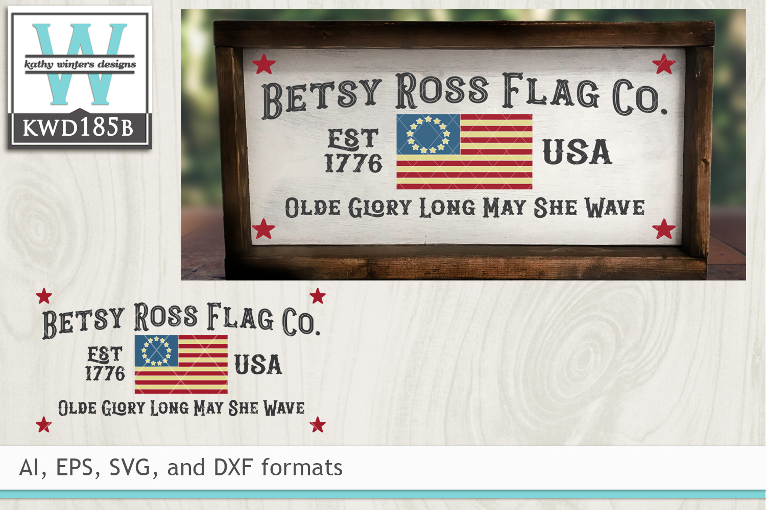 Patriotic SVG - Betsy Ross Flag Company example image 1