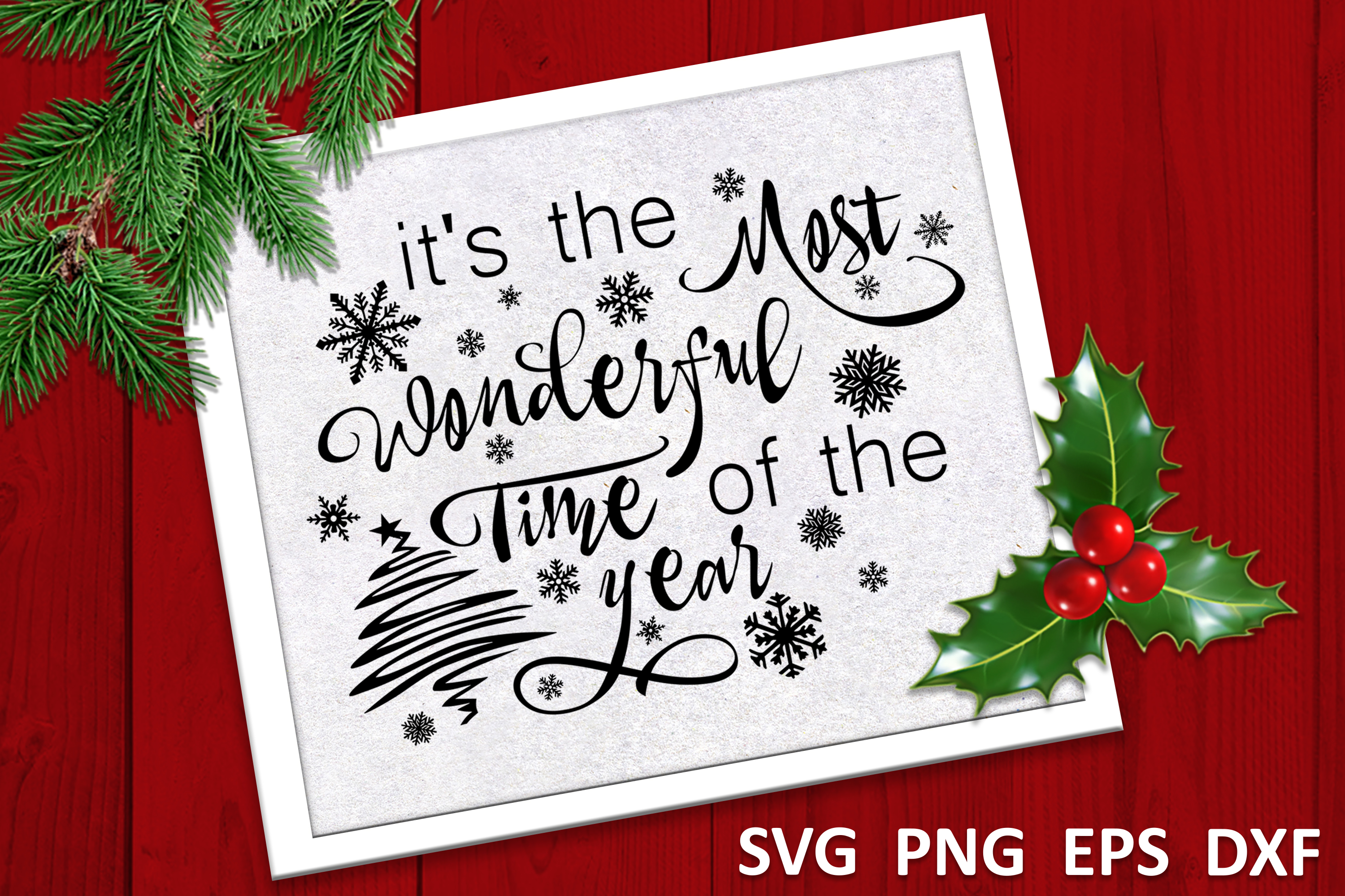 Christmas svg Its the most wonderful time of the year Winter example image 2