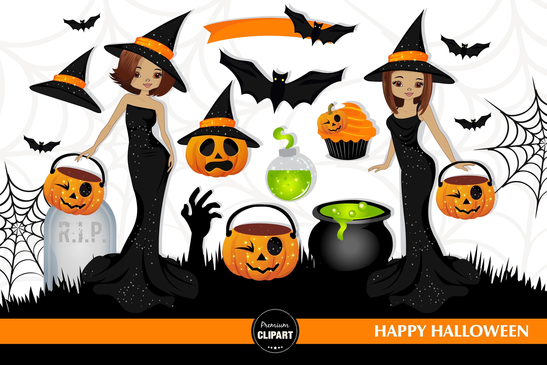 Halloween bundle, Halloween illustrations example image 5