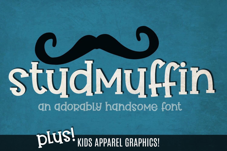 Studmuffin Font + Bonus example image 1